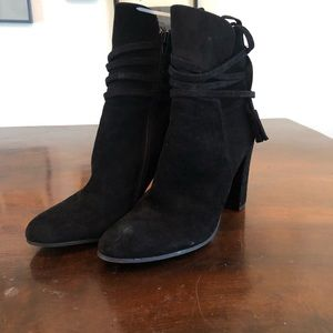 Steve Madden Black Gloria Suede Ankle Boots